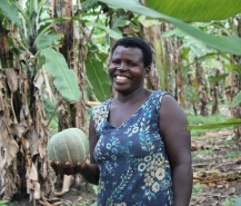 Beautiful farmer (and chairperson) Enid Musimenta.
