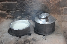 An energy-saving stove at work