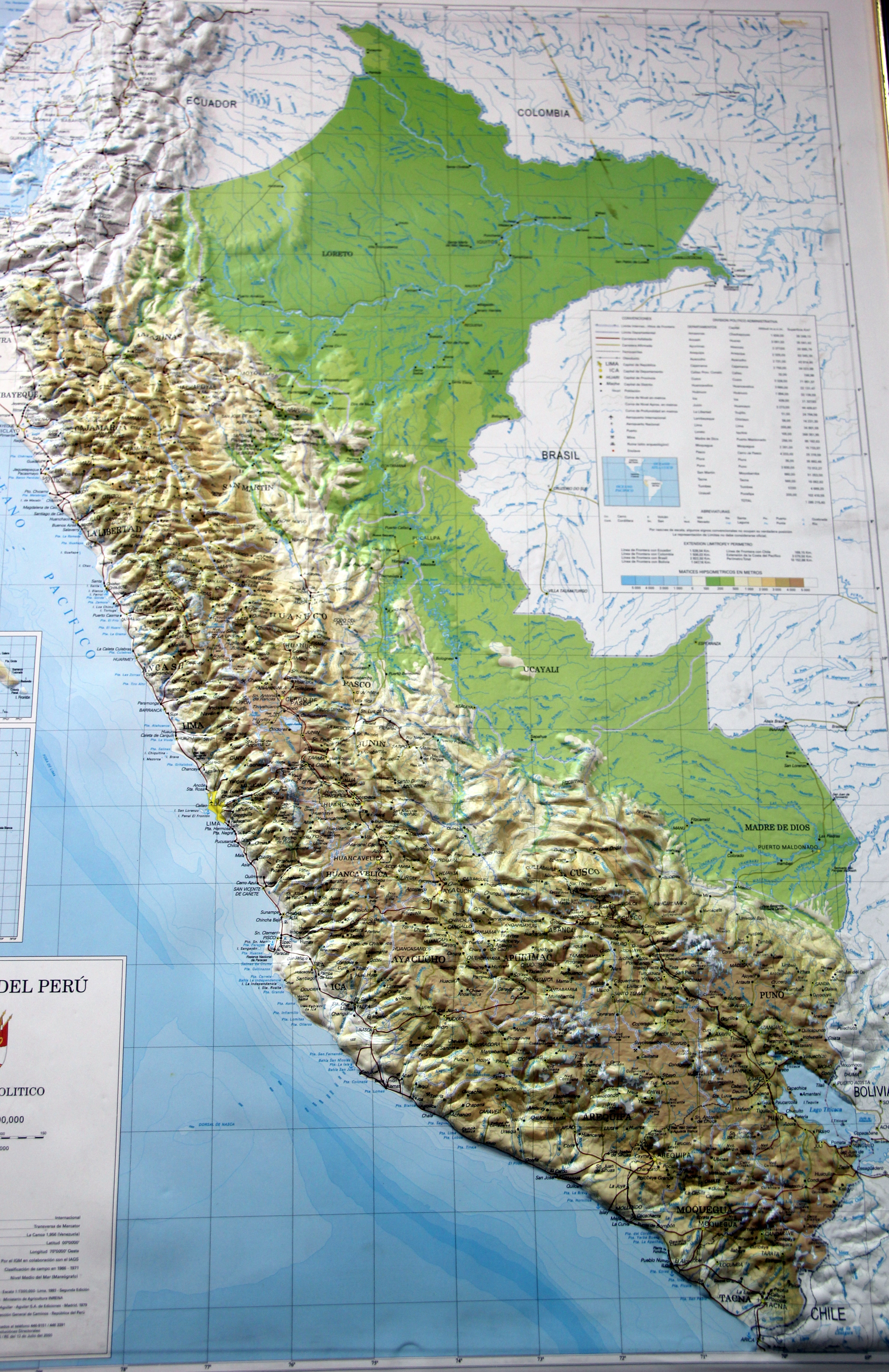 Map Of Peru Heifer X - Physical map of peru