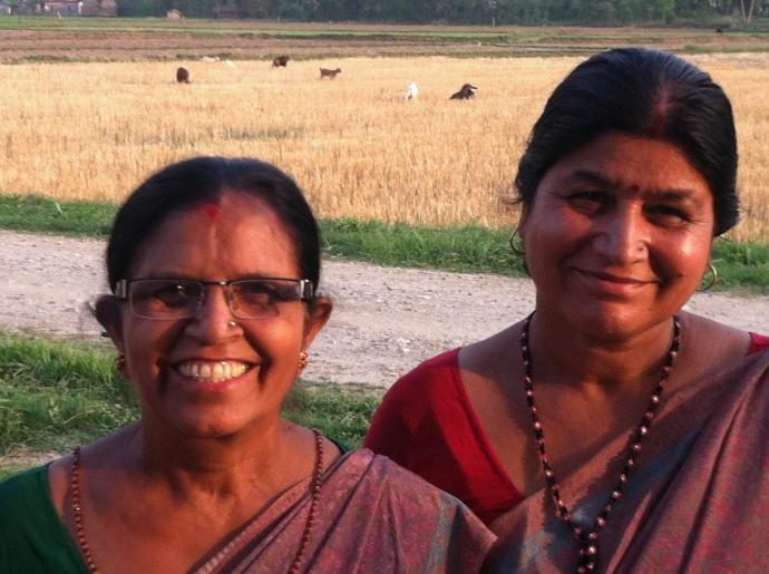 Goma & Saraswoti Mishra, president of WGCC
