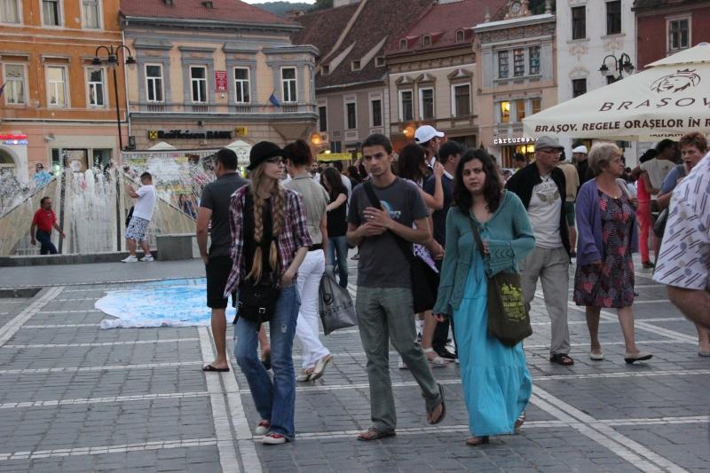 Night in Brasov square.