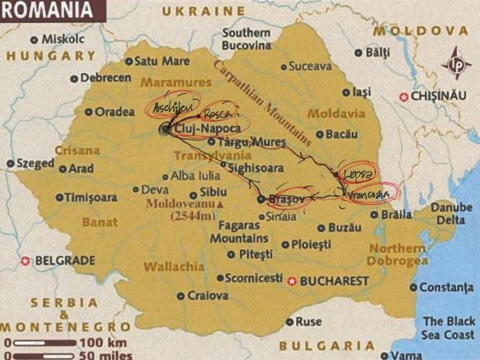 Map Of Romania Heifer X - Oradea map
