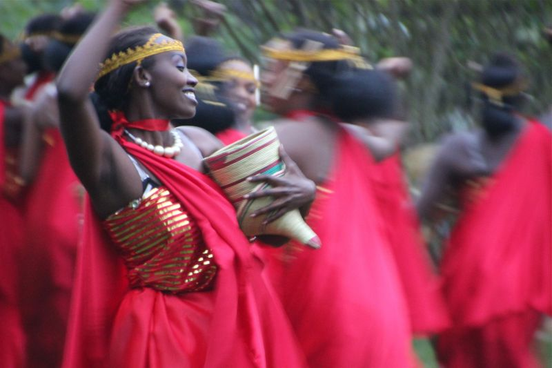 Woman performing the umushagiriro, or cow dance.