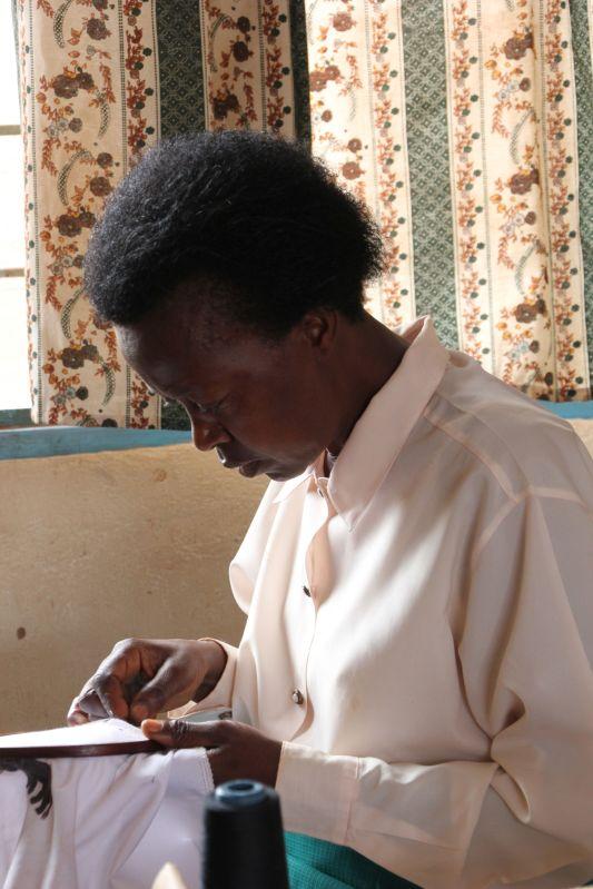Genocide survivor, sewing since 1996...