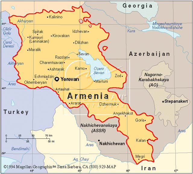 Map Of Armenia Heifer X - Armenia map