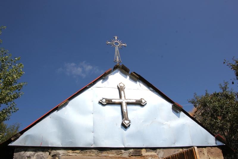 Chapel before ruined church