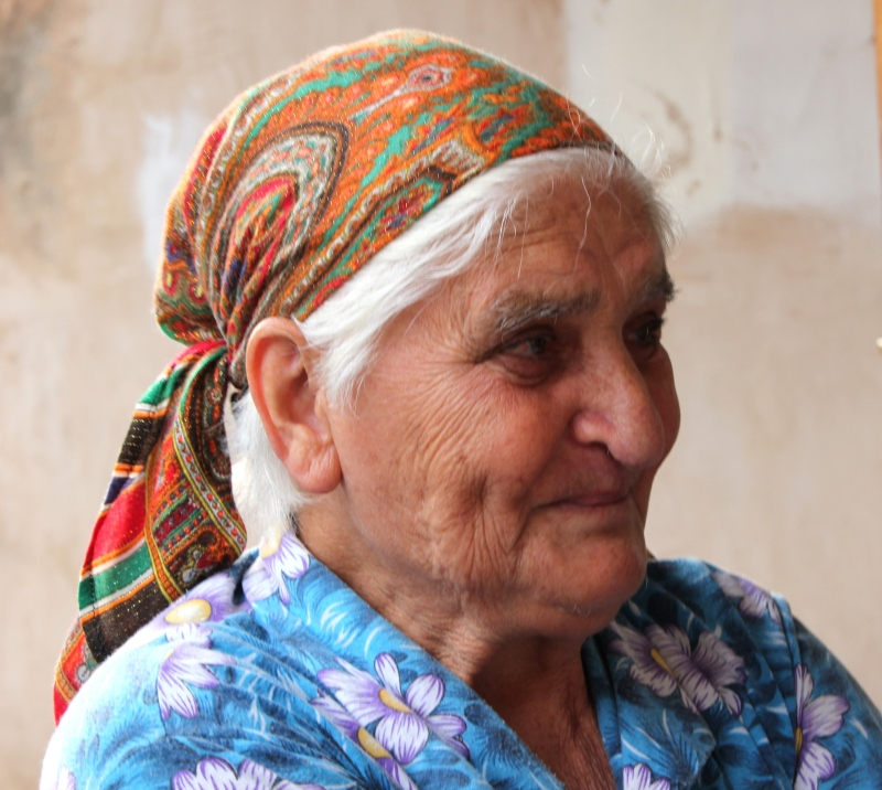 Veronica's grandmother, who's lived through the aftermath of the genocide, the Soviets, and the Azeri war.