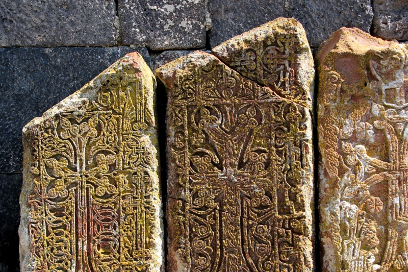 Khachkars (prayer stones)