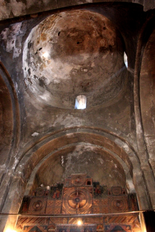 Inside Hairavank Monastery at Lake Sevan