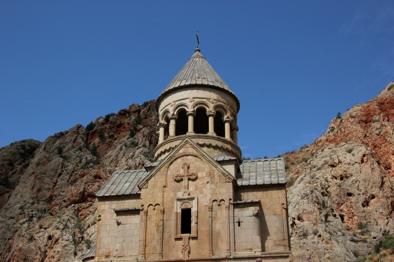 Novarank Monastery, in mountains that remind me of Utah.