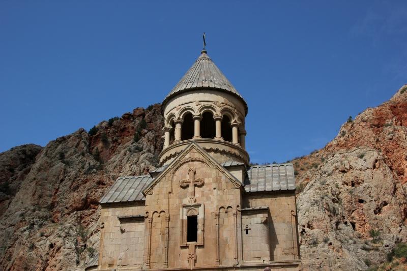 Novarank Monastery, in mountains that remind me of Utah.