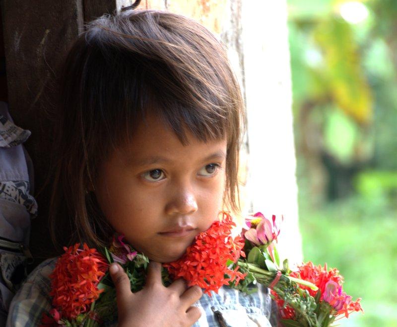 girl w flowers
