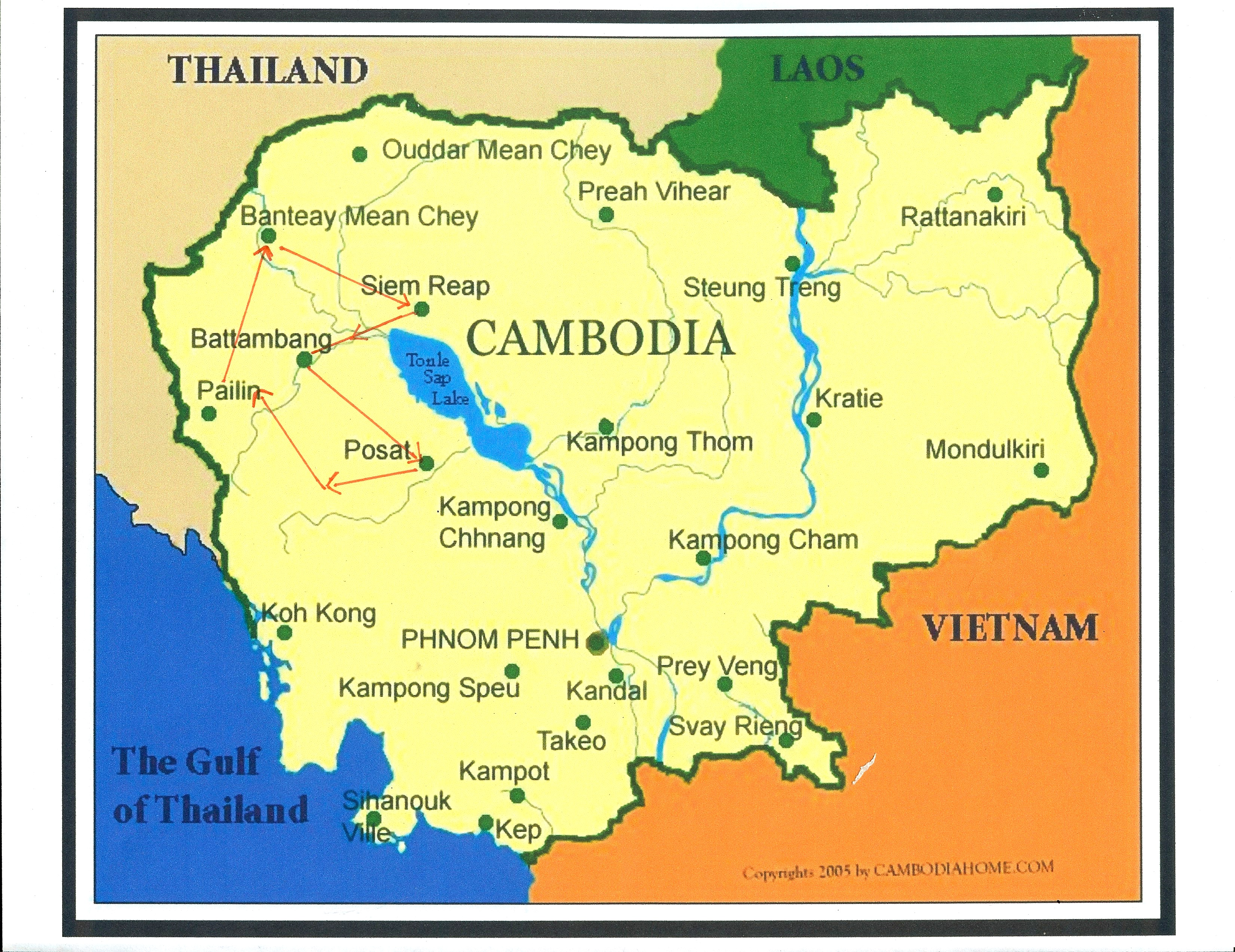 map of cambodia heifer 12 x 12