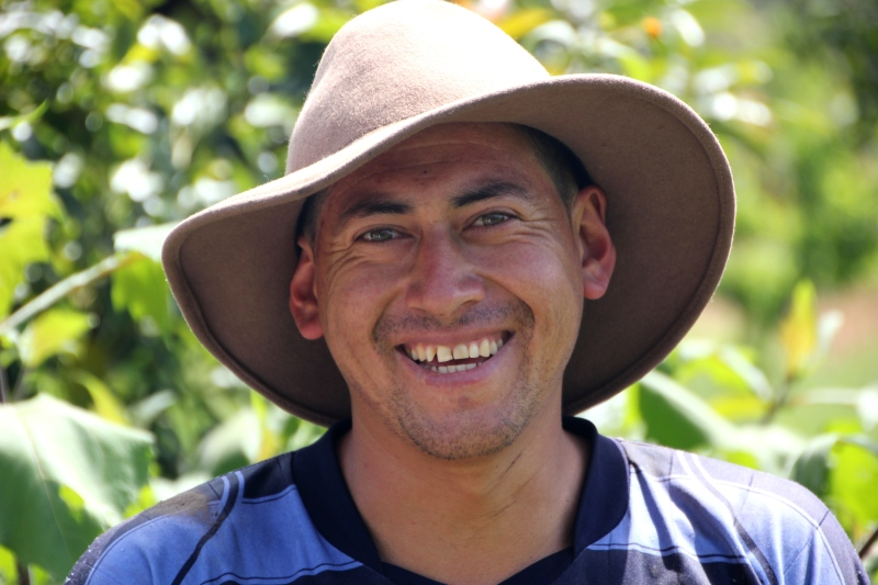 Jorge Chonato - one happy farmer!
