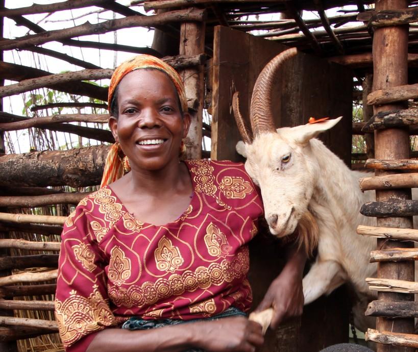 Rebecca & goat2