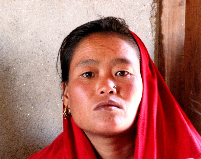 A woman in the cooperative at Shaktikor.
