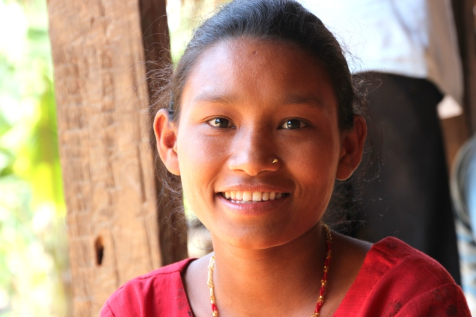 Beautiful Chepang girl, from an untouchable caste.