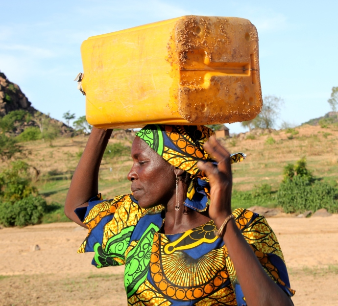woman w water