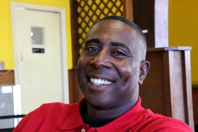 Edward Rucker, Heifer's charismatic community organizer in Hughes.