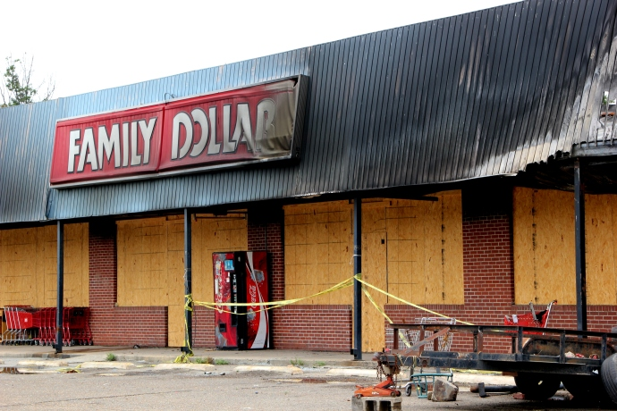 The only food store in Hughes burnt last year.