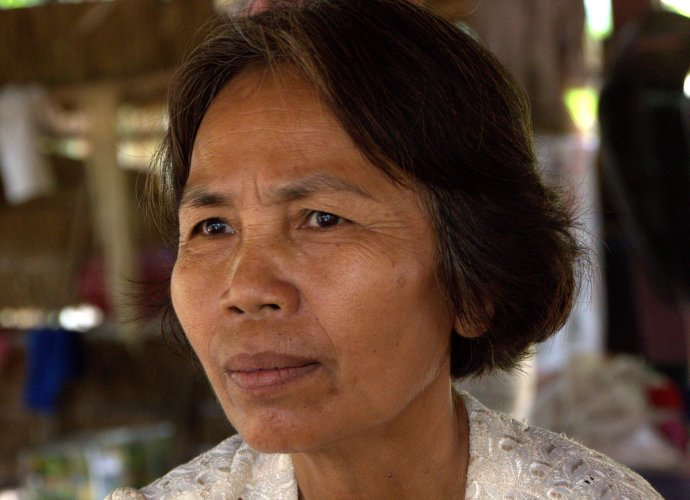 Pream Sui, survivor of a forced marriage to a Khmer Rouge soldier - and beautiful grandmother.